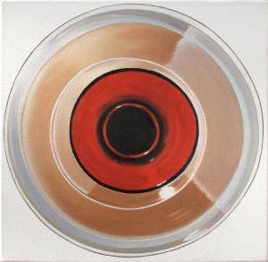 tondo, olej na bawełnie, 40x40cm 2011-